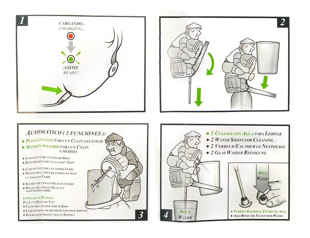 Escanciador Sidra Paisano instrucciones