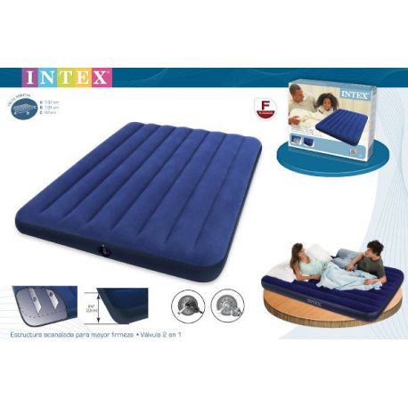 Colchón Doble Azul Intex