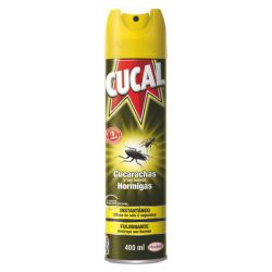 Insecticida Cucal Cucarachas Hormigas Spray 400 ml Cucal