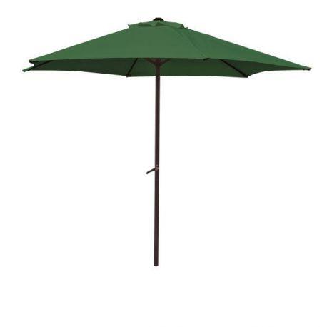 Parasol Acero con Manivela Verde Wolder Brico
