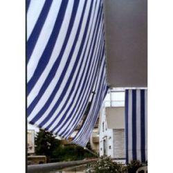 Toldo Clásico Manual Azul Blanco Saet 94