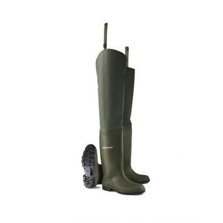 Bota Pescador Pvc Pricemastor Thigh Wader Verde Dunlop