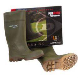 Bota Purofort Puntera Plantilla Verde Dunlop