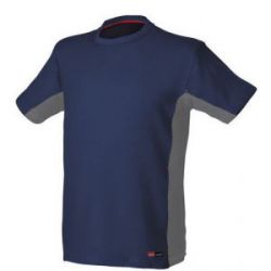 Camiseta Stretch Manga Corta Azul Issa Line Stretch