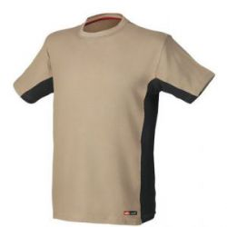 Camiseta Stretch Manga Corta Beige Issa Line Stretch