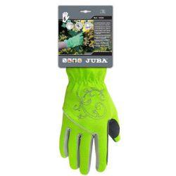 Guante Piel Sintetica Palma Spandex Verde Juba