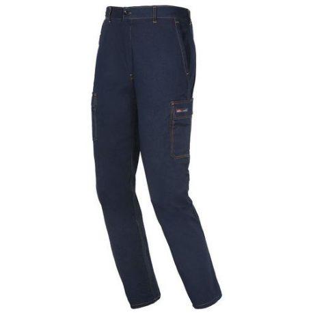 Algodon Pantalon Algodon Stretch Stretch Azul Pantalon Azul L 7fSCvxqwv