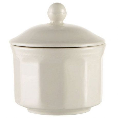 Azucarero Ceramica Blanca