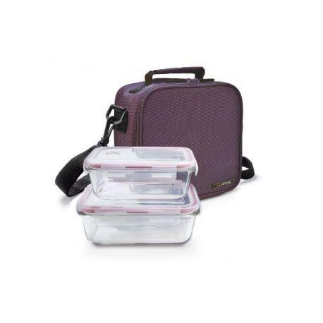 Bolsa Lunchbag Classic Lila 2 Hermeticos Cristal Iris
