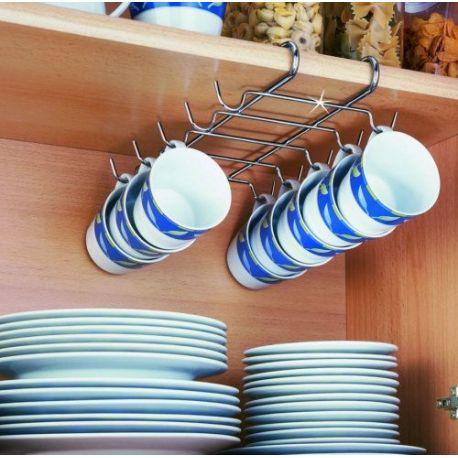 Colgador Tazas Interior Armario Cocina Wenko