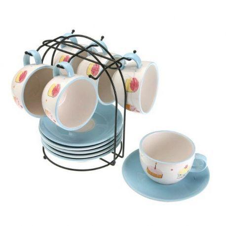 Juego Cafe 6 Piezas con Soporte Cupcak Versa