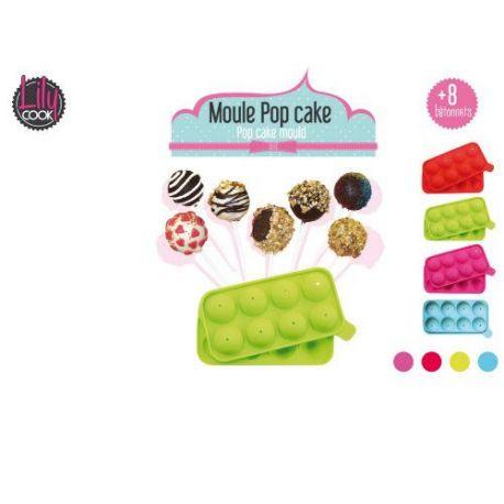 Molde Silicona 8 Pop Cake con Palos CMP