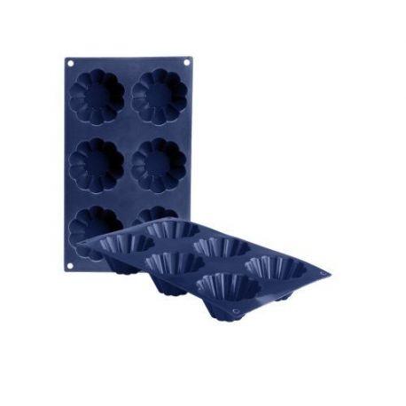 Molde Silicona Flan Rizado 6 Cavidades Blueberry Ibili