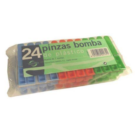 Pinza Ropa Plástico Bomba Plus Tarres