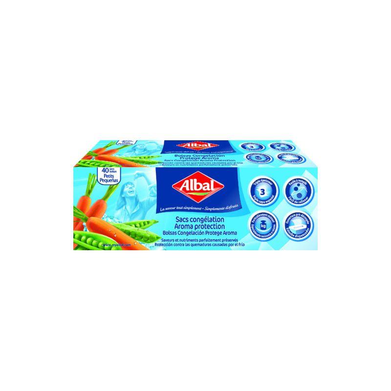 Bolsa congelacion albal 1 l 40 bolsas 19x24 - Bolsas congelacion ...