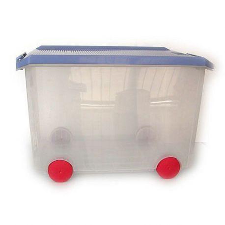 Caja Multiuso 60 L con Ruedas Azul Tatay