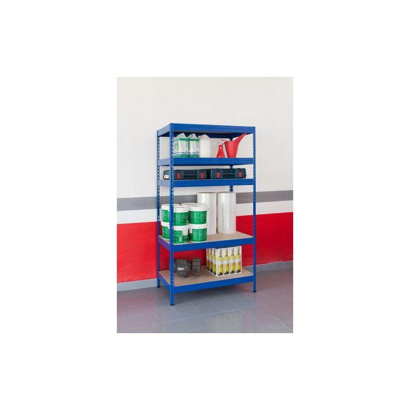 Estanteria 5 baldas sin tornillos 176x90x40 - Baldas y estanterias ...