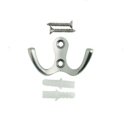 Gancho Percha Metal para Atornillar Forma W 3M