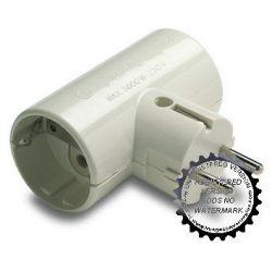 Adaptador Doble Tt Ceramica 16A-250V