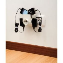 Adaptador Triple Soporte Moviles 16A/250V