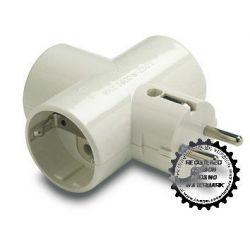 Adaptador Triple Tt Ceramica 16A-250V