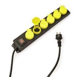 Base Multiple 6 Tomas con Tapa+Interruptor