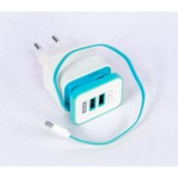 Cargador para Moviles 2 Puertos Usb y Cable