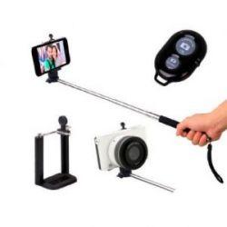 Palo Selfie Telescopico + Mando A Distancia