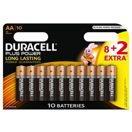 Pila Alcalina Duracell Plus Power Lr06 8+2 Unid