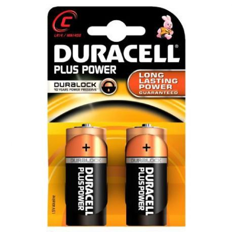 Pila Alcalina Duracell Plus Power Lr14 2 Unidades