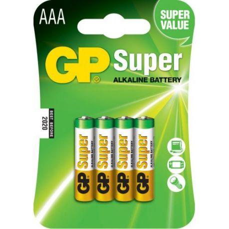 Pila Alcalina Gp Lr03 1.5 V 4 Unidades