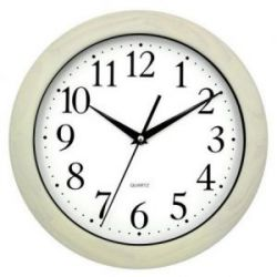 Reloj Cocina Madera Roble Blanco 30X30X4 Cm