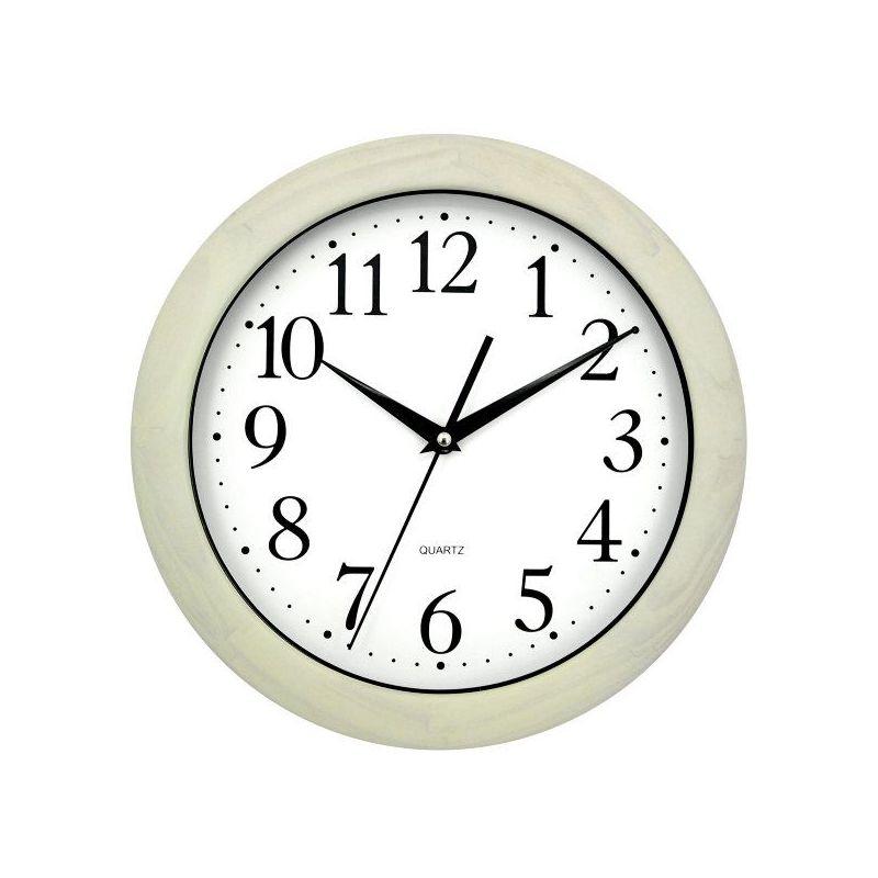 Reloj cocina madera roble blanco 30x30x4 cm - Relojes pared cocina ...