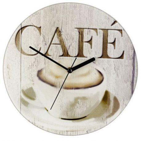 Reloj Cocina Vidrio Cafe 27X3 Cm