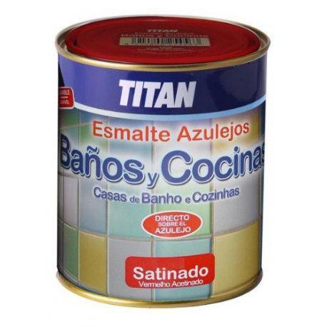 Esmalte Azulejos Baño y Cocina Blanco 750 Titanlux