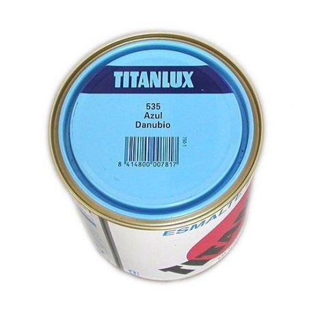 Esmalte Sintético Azul Danubio 750 ml Titanlux