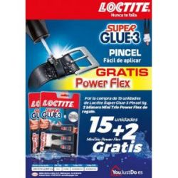 Loctite Super Glue 3 Pincel 5 g + 2 Trio de 1 g
