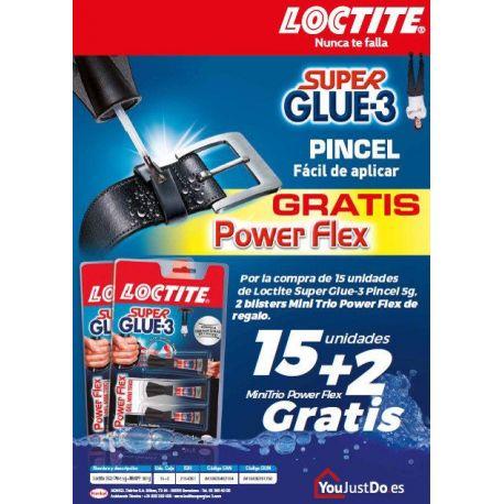 Loctite Super Glue 3 Pincel 5 g + 2 Trio de 1 g