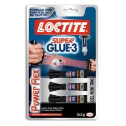 Loctite Super Glue 3 Power Flex Mini Trio 3X1 g