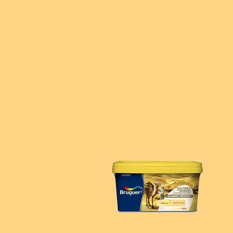 Pintura plastica sahara amarillo - Pintura monocapa bruguer ...