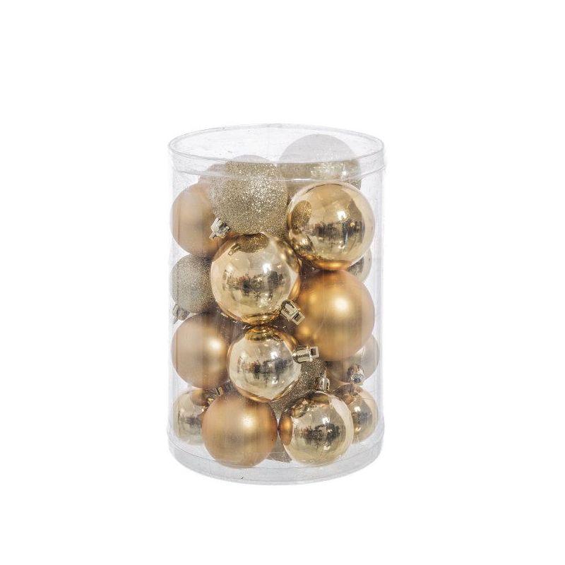 Bolas color oro surtidas arbol navidad 27 unidades - Bolas de navidad grandes ...