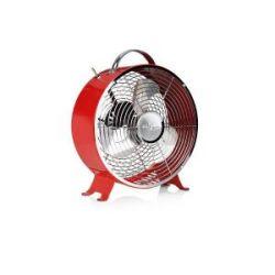 Ventilador Retro Metalico Mesa Rojo 25 Cm 20 W