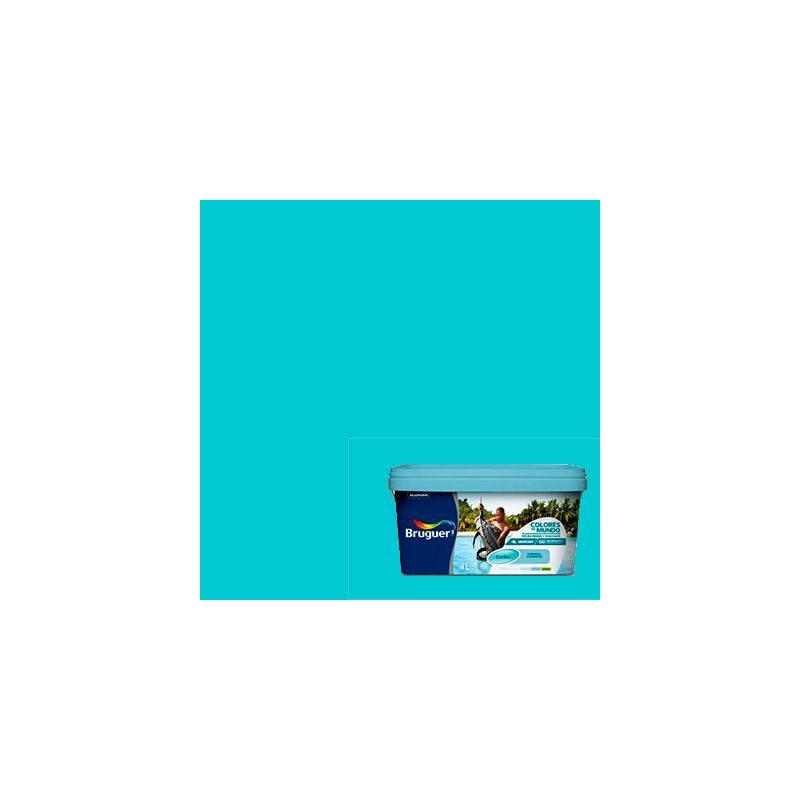 Pintura plastica caribe turquesa for Pintura interior turquesa
