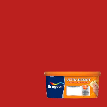 Pintura Plástica Mate Ultra Resist Bruguer rojo