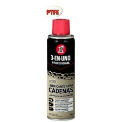 Aceite Lubricante 3 En 1 Cadenas Spray 250 Ml
