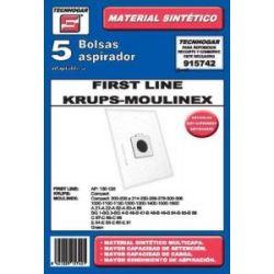 Bolsa Aspirador Moulinex Compact 5 Unid Sintetica