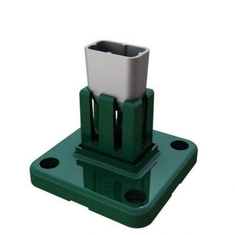 Base Aluminio Poste Hercules verde