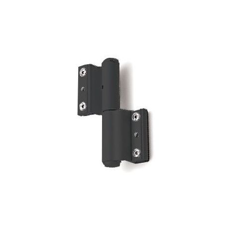 Bisagra Aluminio Reforzada Regulable Negra