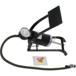 Bomba Inflar Pedal C/ Manometro +Adaptadores Mader