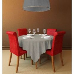 Mantel Hule Linette Classic Taupe 1.40